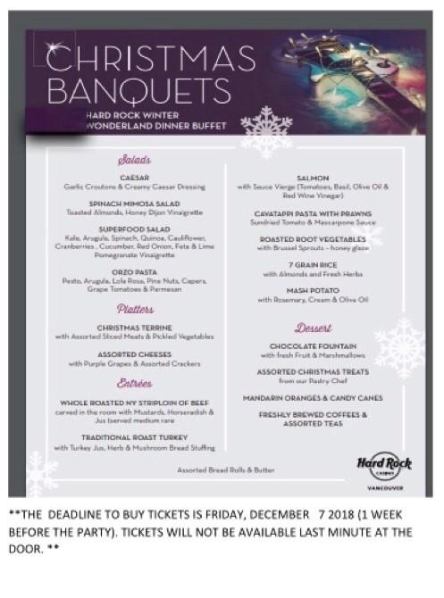 Adult's Christmas Party @ Hard Rock Casino   Coquitlam   British Columbia   Canada