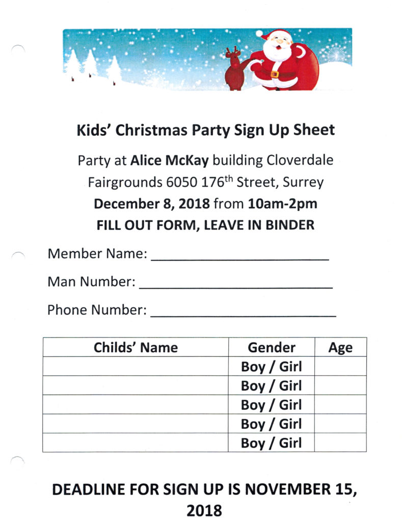 Children's Christmas Party @ Alice McKay building | Surrey | British Columbia | Canada